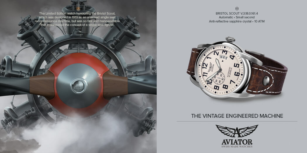 Aviator Swiss horloges